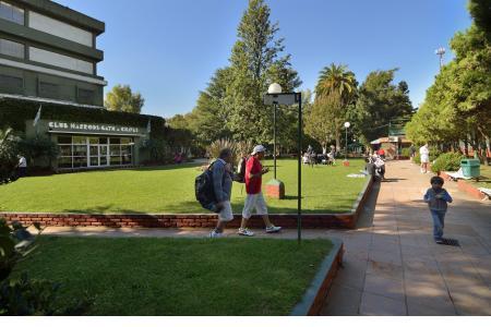 Pasillos del sector tenis