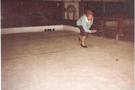 Año 1977 - Torneo de Bochas. Socia Micaela Sanz de Granell.