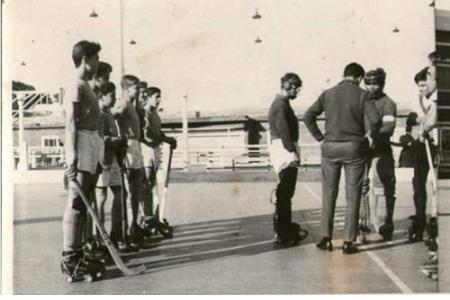 "Año 1962 Vélez - Néstor Querejeta; Ronald Felice; Juan Occhiuzzi;""Chiche"" Mendoza; Jorge Tanuscio; Enrique Serra y Jorge Mazzei."