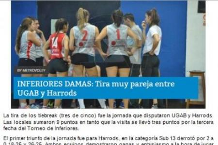 Inferiores Damas - Noticias Abril 2016 (ampliar para ver nota completa)