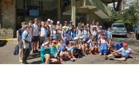 La escuelita en el Kids Day del Challenger