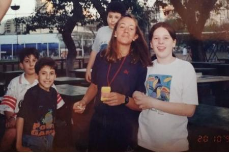 Año 1997 - Basket Prof. Coralí Rimoldi junto a Luli Álvarez